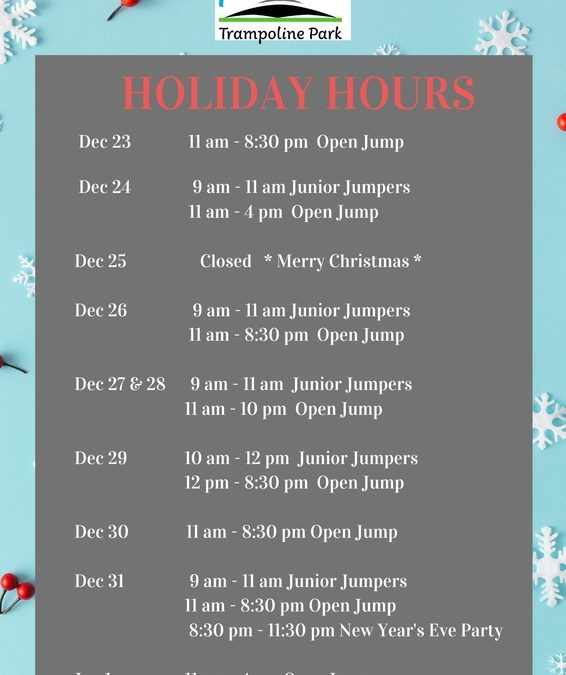 Holiday Hours 2019/2020
