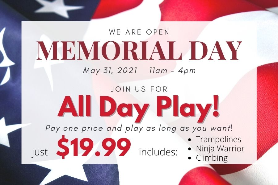 Memorial Day – All Day Play!