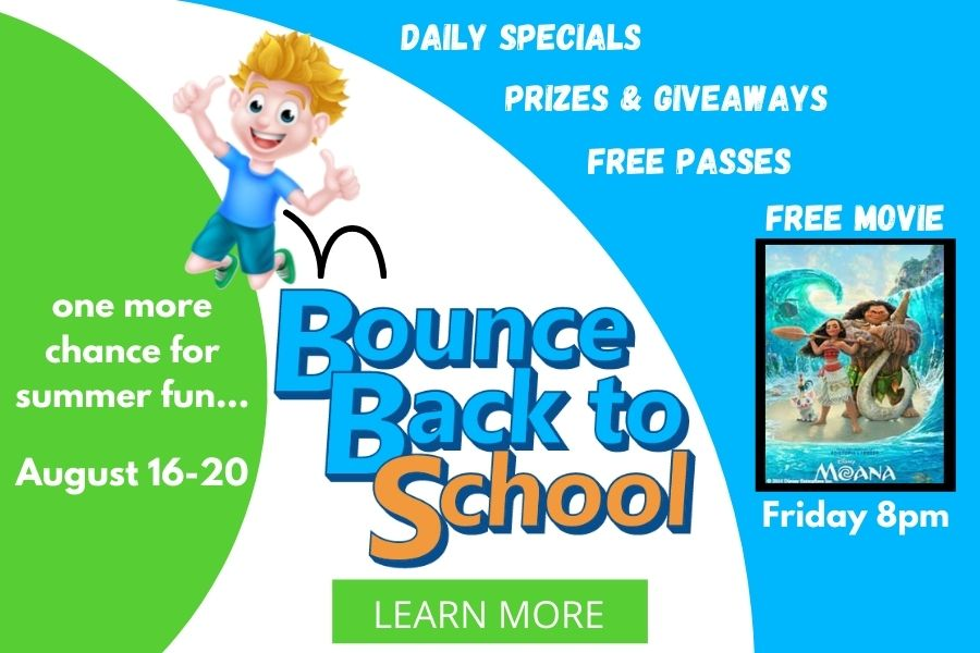 Are your kids ready to Bounce Back to School?